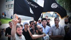 Salafisten demonstrieren in Tunis; Foto: dpa/picture-alliance