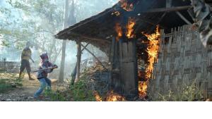 Männer überfallen schiitische Wohnhäuser in Sampang und setzen sie in Brand; Foto: Getty Images