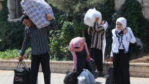 Syrische Flüchtlinge, Foto: AP
