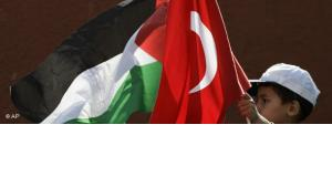 Türkische und Palästinensische Flagge; Foto: AP