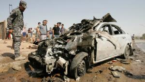 Überreste eines Bombenattentates in Kirkuk, 23. Juli 2012; Foto: Reuters