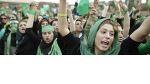 Die grüne Bewegung im Iran; Foto: AP