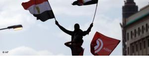Demonstrant auf dem Tahrir-Platz in Kairo; Foto: AP