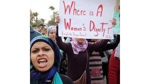 Frauendemonstration in Kairo; Foto: Hossam Ali/AP/dapd