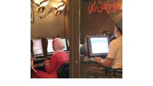 Ein Internetcafé in Damaskus; Foto: Oliver Berg