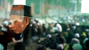 Alter Mann in der Niu-Jie-Moschee.