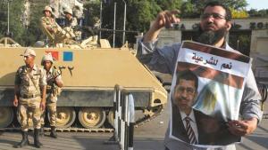 Proteste von Anhängern des ägyptischen Präsidenten in Kairo; Foto: Reuters