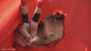 Demonstrant im Jemen; Foto: dpa/picture alliance