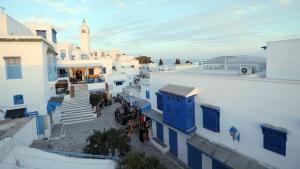 Das tunesische Dorf Sidi Bou Said; Foto: FETHI BELAID/AFP/Getty Images
