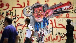 Graffiti gegen abgesetzten Präsidenten Mursi  in Kairo, Ägypten; Foto: Gianluigi Guercia/AFP/Getty Images
