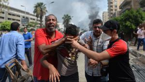 Verletzte Demonstranten in Kairo; Foto: AFP/Getty Images