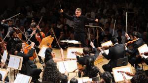 Das arabische Jugendorchester beim Konzert in Berlin (photo: Kai Bienert/Young Euro Classic)