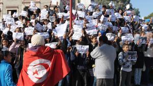 Proteste in Tunesien während des Beginns der Jasminrevolution; Foto: DW/Mounir Khelifi