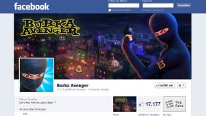 Screenshot der Facebook-Fanseite von ''Burka Avenger''; Foto: DW