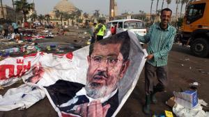 Räumung des Camps der Mursi-Anhänger auf dem Nahda-Platz in Kairo; Foto: AP/picture-alliance