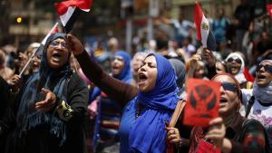 Anti-Mursi-Demonstranten verlangen verlangen am 01. Juli 2013 auf dem Tahrir-Platz seinen Rücktritt; © Reuters