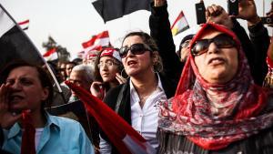 Frauenproteste gegen die Muslimbruderschaft in Kairo; picture-alliance/landov