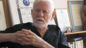 Uri Avnery, Friedensaktivist aus Israel; Foto: DW/Tania Krämer