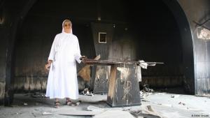 Zerstörtes Gotteshaus: Die Kapelle einer ausgebrannten Franziskaner-Schule in Beni Suef; Foto: Markus Symank
