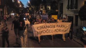 Proteste des Forums Cihangir-Park in Istanbul; Foto: privat