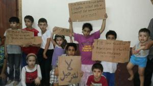 Syrische Flüchtlingskinder auf der Polizeiwache im ägyptischen Abukir; Foto: Karim El-Gawhary