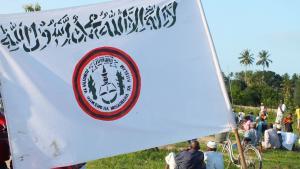 """Fahne der radikal-islamischen Bewegung """"Uamsho"""" auf Sansibar; Foto: Mohammed Khelef/DW"""