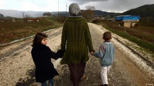 Syrische Familie auf der Flucht; Foto: Reuters