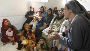 Informationsveranstaltung des Coptic Center for Training and Development, einer NGO in Beni Sueif, über Genitalverstümmelung; Foto: CRIS BOURONCLE/AFP/Getty Images