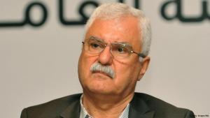 George Sabra, Präsident des Syrischen Nationalrates während einer Pressekonferenz in Istanbul am 21. August 2013; Foto: AFP/Getty Images