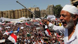 Massendemonstration am Tahrirplatz in Kairo; Foto: Reuters