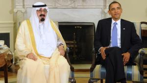 Der saudische König  Abdullah zu Besuch bei US-Präsident Obama in Washington; Foto: Roger L. Wollenberg/EPA