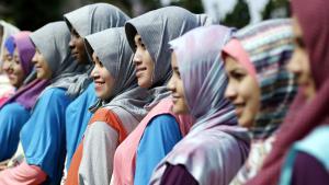 Muslimische Frauen aus Indonesien; Foto: picture-alliance/dpa