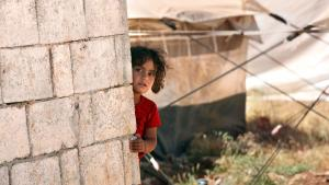 Syrisches Kind in einem Flüchtlingscamp an der syrischen Grenze; Foto: dpa/picture-alliance