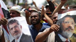 Anhänger des gestürzten ägyptischen Präsidenten Mohammed Mursi in Kairo; Foto: AFP/Getty Images