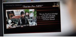 Mordaufruf der radikal-islamistischen Terrororganisation Jund Allah gegen die rechtspopulistische Vereinigung Pro Köln; Foto: picture-alliance/dpa