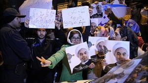 Iraner jubeln in Teheran nach der Einigung im Atomstreit; Foto: MEHR