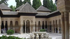 Der Court of the Lions der Alhambra, Granada; Foto: comacut/Wikipedia/Creative Commons