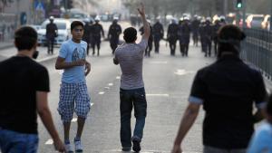 Bahrainische Aktivisten demonstrieren in Manama am 6. November 2012; Foto: Reuters