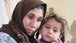 Syrische Flüchtlinge in Jordanien: Inam mit ihrer Tochter Najah; Foto: Claudia Mende