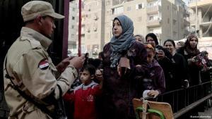 Ägypter geben ihre Stimmen über die ägyptische Verfassung ab, Kairo, 14. Januar 2014; Foto: DPA