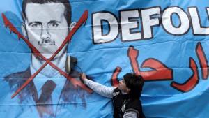 Anti-Assad-Graffiti in Istanbul; Foto: dpa/picture-alliance