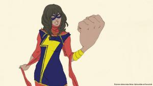 Superheldin Kamala Khan alias Ms. Marvel; Foto: picture-alliance/dpa/Adrian Alphona/Marvel/Ausschnitt