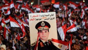 Anhänger General Abdel Fattah al-Sisis auf dem Tahrir-Platz in Kairo am 3. Revolutionsfeiertag; Foto: Reuters