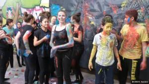 """Berliner Schüler nehmen im Theaterwettbewerb """"unart"""" teil; Foto: DW/A. Kasiske"""