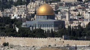 Blick vom Ölberg auf Jerusalem mit der vergoldeten Kuppel des Felsendoms; Foto: dpa/picture-alliance