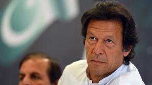 Imran Khan während einer Veranstaltung seiner Partei in Islamabad am 9. April 2013; Foto: Aamir QureshiAFP/Getty Images