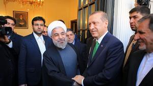 Der türkische Ministerpräsident Recep Tayyip Erdogan zu Besuch beim iranischen Präsidenten Hassan Rohani am 29.01.2014 in Teheran; Foto: MEHR