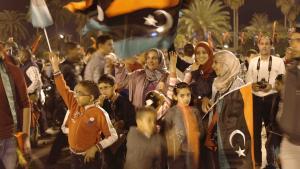 Revolutionsfeier am 17. Februar 2014 auf dem Märtyrerplatz in Tripolis; Foto: Valerie Stocker