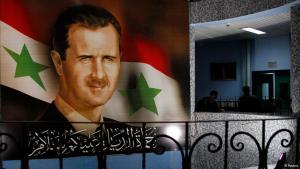 Ein Poster des syrischen Präsidenten Assad; Foto: Reuters