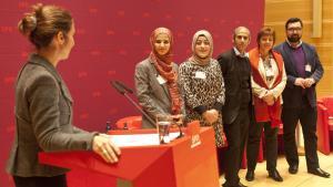 """Der """"Arbeitskreis Muslime in der SPD""""; Foto: Hendrik Rauch"""